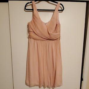 J. Crew Blush Chiffom Bridesmaid Dress